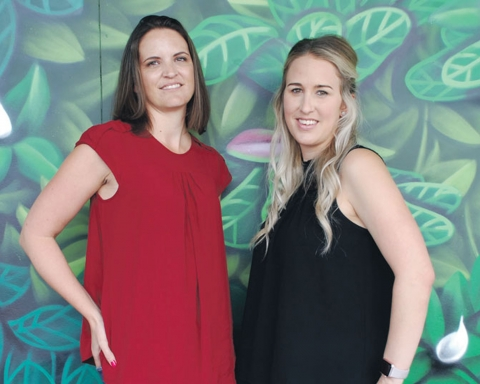 Raglan Chamber of Commerce's new co-chairwomen from left, Hayley Willers and Morgan Morris.