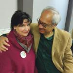 Word Cafe co-organiser, Rosie Worsp with Witi Ihimaera.