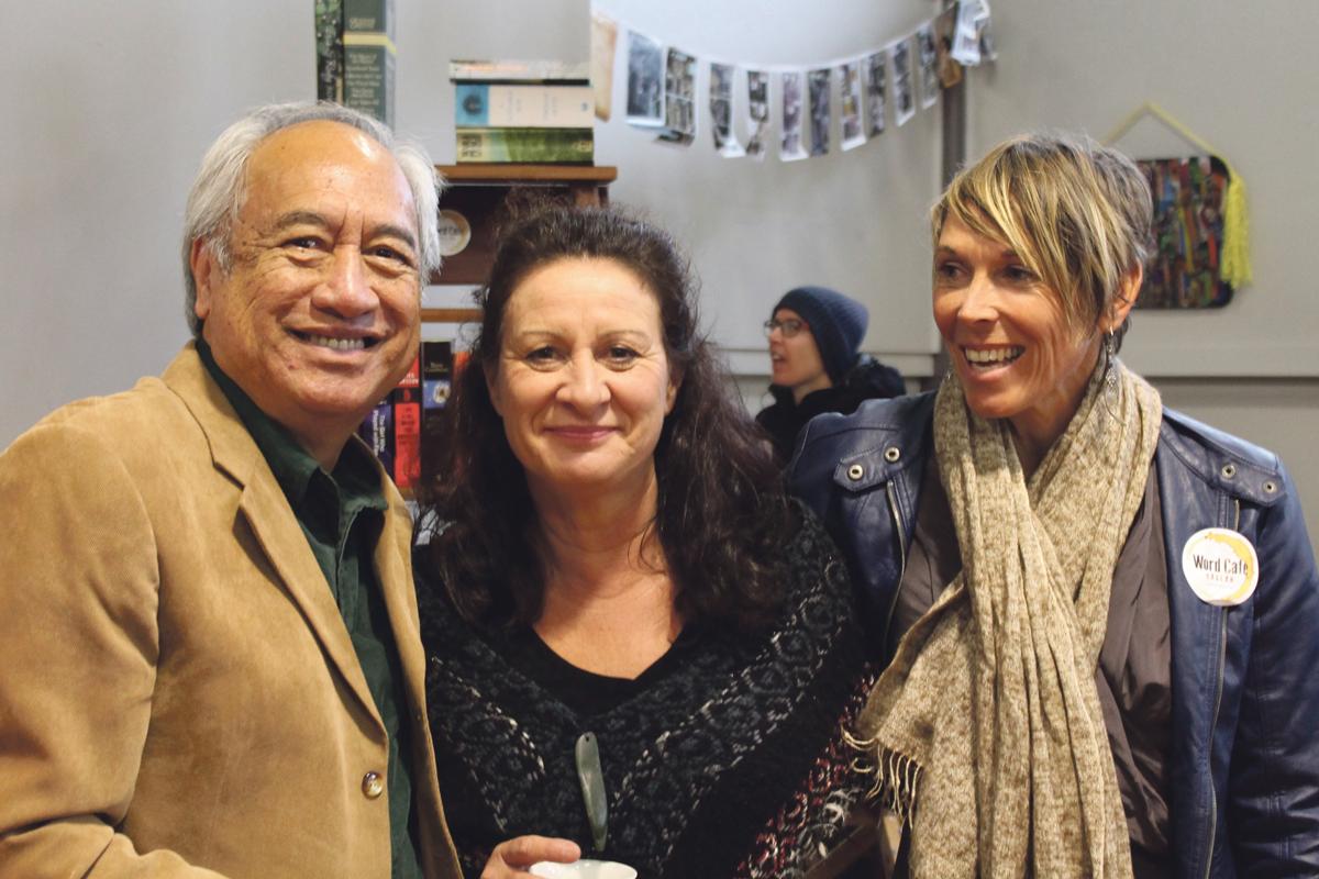 Witi Ihimaera, Jacqui McRae and Bernadette Gavin