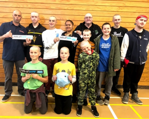 A group of brave students and teachers from Raglan Area School fundraised for the Shave for a Cure event held last Wednesday in support of leaukemia and blood cancer.