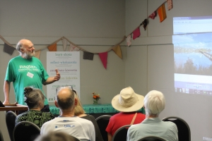 John Lawson spoke at the Raglan Naturally event.