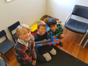 Aari, Jaer and Nikau gifted this wooden toy truck to West Coast Health so that children could play while they wait.