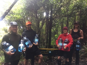 Helpers have been going up the maunga to prepare for the Karioi Trail.