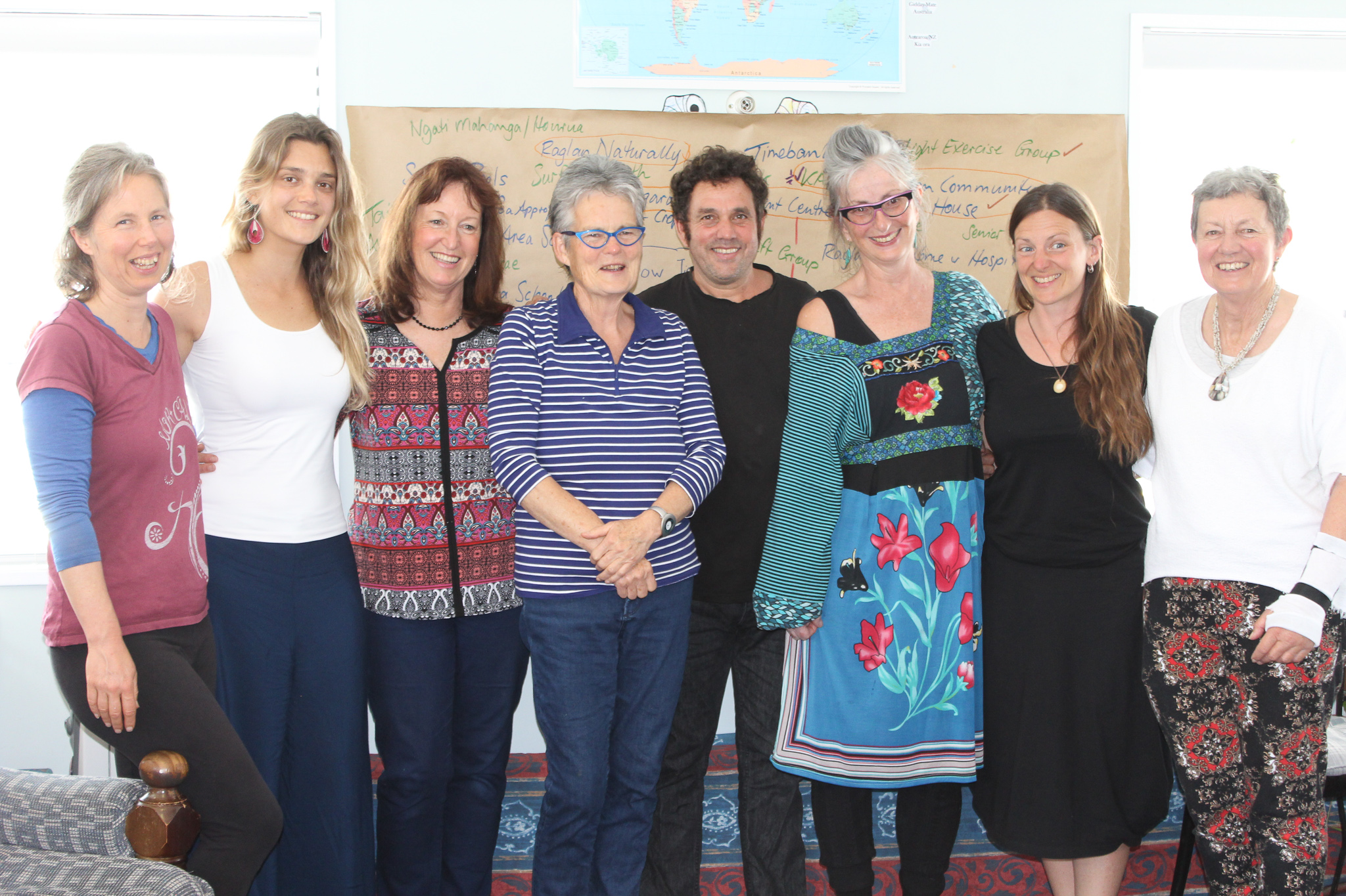 From left Suz Hall, Juliana Albertoni de Miranda, Meredith Youngson,                                                                                          Margaret Jefferies, Etal Gilad, Di Jennings, Anna Cunningham and Sue Noble.