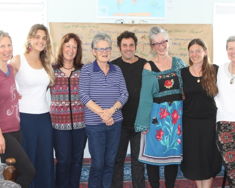 From left Suz Hall, Juliana Albertoni de Miranda, Meredith Youngson,                                                                                          Margaret Jefferies, Etal Gilad, Di Jennings, Anna Cunningham and Sue Noble.